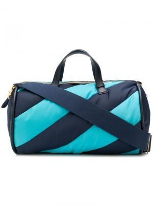 Barrel stripes tote Anya Hindmarch. Цвет: синий