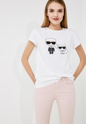 Футболка Karl Lagerfeld. Цвет: белый