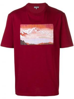 Футболка с принтом горного пейзажа Lanvin. Цвет: красный