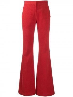 Расклешенные брюки pushBUTTON. Цвет: красный
