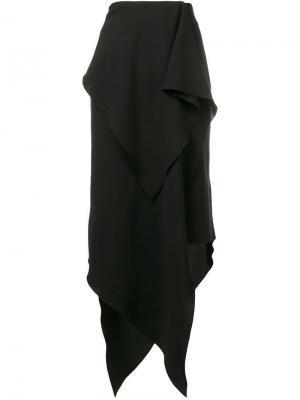 Юбка макси с драпировкой A.W.A.K.E.. Цвет: черный