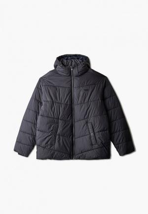 Куртка утепленная Replika Jeans. Цвет: черный