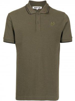 Рубашка поло с вышитым логотипом McQ Swallow. Цвет: зеленый