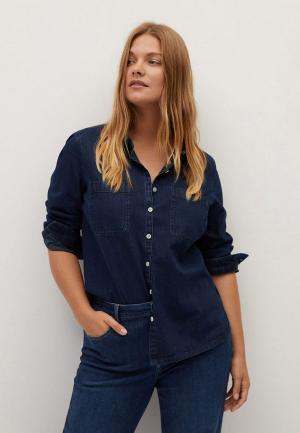 Рубашка джинсовая Violeta by Mango. Цвет: синий