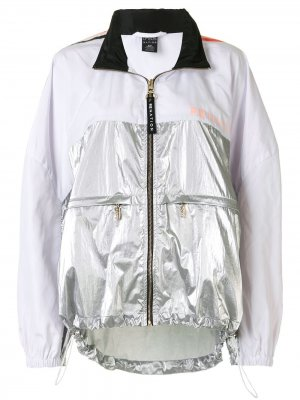 Двухцветная куртка Side Runner с капюшоном P.E Nation. Цвет: серый