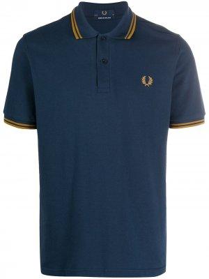 Рубашка поло с короткими рукавами Fred Perry. Цвет: синий