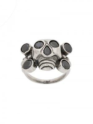 Декорированное кольцо в форме черпа KTZ. Цвет: серебристый