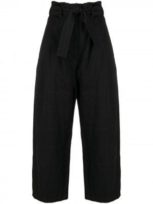 Широкие брюки с присборенной талией Lemaire. Цвет: черный