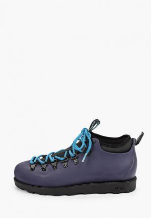 Ботинки Native. Цвет: синий