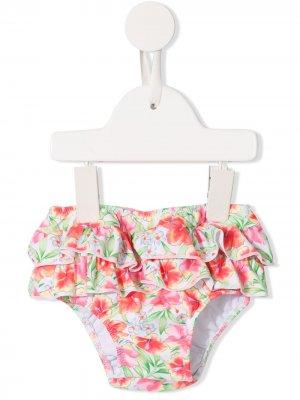 Плавки бикини с цветочным принтом Sunuva. Цвет: разноцветный