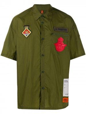 Рубашка с короткими рукавами и логотипом Heron Preston. Цвет: зеленый