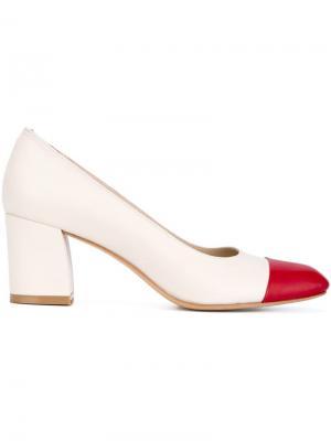 Туфли с контрастным носком Maryam Nassir Zadeh. Цвет: телесный