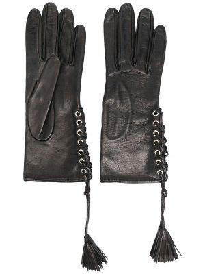 Перчатки с кисточками Manokhi. Цвет: черный