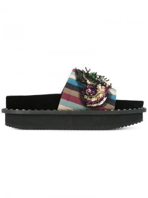 Декорированные сандалии в полоску Antonio Marras. Цвет: разноцветный