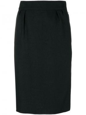 Юбка-карандаш Hermès Vintage. Цвет: черный