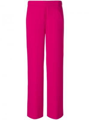Прямые брюки P.A.R.O.S.H.. Цвет: розовый