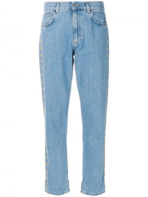 Укороченные джинсы бойфренды Moschino. Цвет: синий