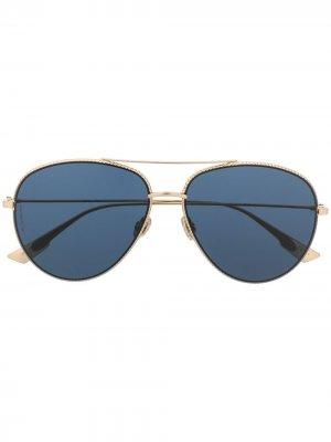 Солнцезащитные очки-авиаторы Dior Society Eyewear. Цвет: золотистый