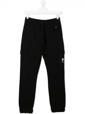 Спортивные брюки с логотипом Paolo Pecora Kids. Цвет: черный