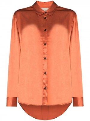Рубашка Milan на пуговицах Asceno. Цвет: оранжевый