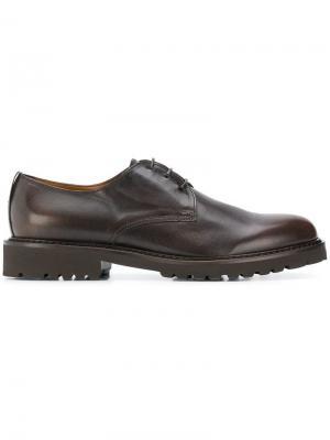 Оксфорды на шнуровке Doucal's. Цвет: коричневый