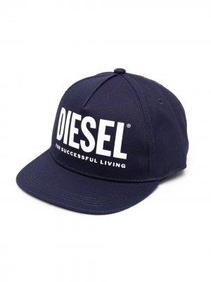 Бейсболка с логотипом Diesel Kids. Цвет: синий