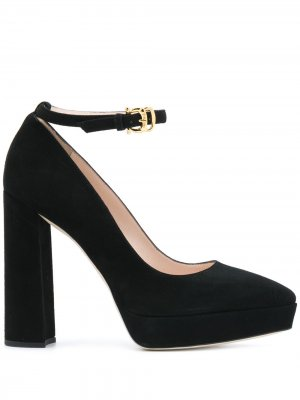 Туфли-лодочки Мэри Джейн на платформе Pollini. Цвет: черный