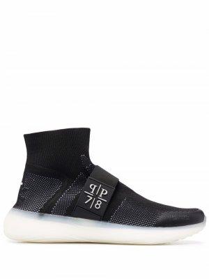 Кроссовки-носки Philipp Plein. Цвет: черный