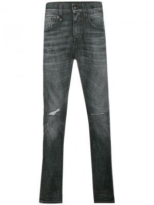 High waisted skinny jeans R13. Цвет: черный
