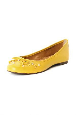Балетки Velvet. Цвет: желтый