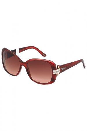 Очки солнцезащитные Chopard. Цвет: красный