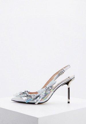 Туфли N21. Цвет: серебряный