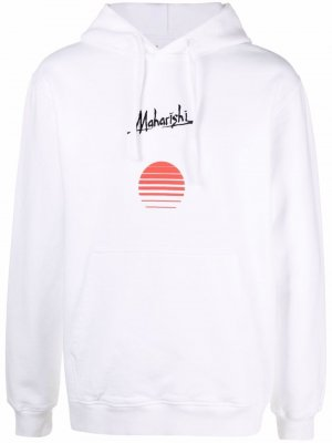 Худи Apocalypse с логотипом Maharishi. Цвет: белый