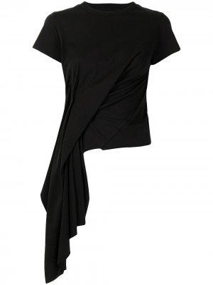 MarquesAlmeida драпированная футболка Marques'Almeida. Цвет: черный