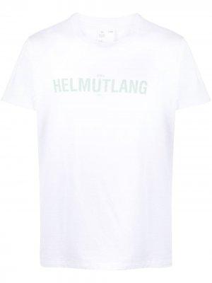 Футболка с логотипом Helmut Lang. Цвет: белый