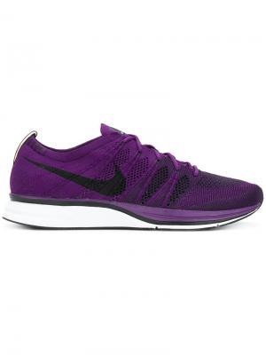Кроссовки Flyknit Nike. Цвет: фиолетовый