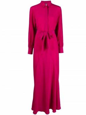 Платье-рубашка с поясом Kiton. Цвет: розовый