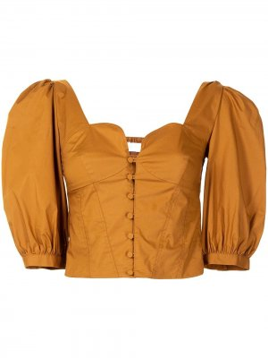 Укороченная блузка a Jonathan Simkhai Standard. Цвет: коричневый
