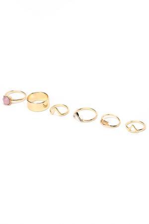 Набор колец DIVA. Цвет: золотой