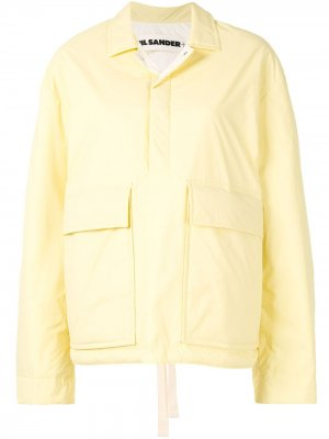 Рубашка с карманами Jil Sander. Цвет: желтый