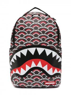 Рюкзак с геометричным принтом Sprayground. Цвет: черный