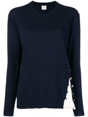 Contrast insert sweater Alysi. Цвет: синий