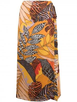 Юбка миди с принтом Roseanna. Цвет: нейтральные цвета