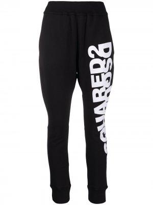 Спортивные брюки с логотипом Dsquared2. Цвет: черный