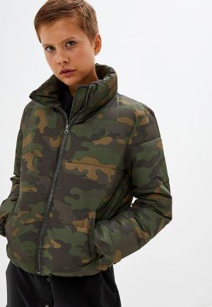 Куртка утепленная Jacqueline de Yong. Цвет: хаки