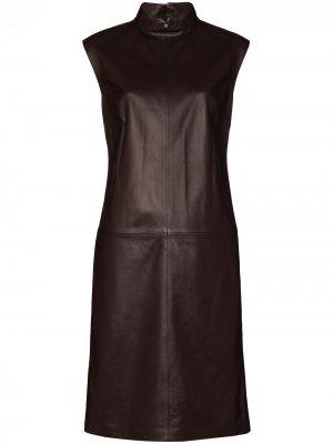 Платье-трапеция без рукавов Joseph. Цвет: коричневый