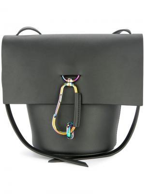 Сумка через плечо Belay с откидным клапаном Zac Posen. Цвет: черный