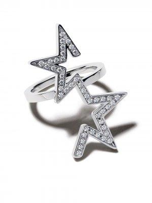 Кольцо Abstract Star из белого золота с бриллиантами TASAKI. Цвет: белый