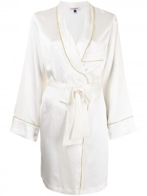 Короткий халат Backstage Gilda & Pearl. Цвет: белый