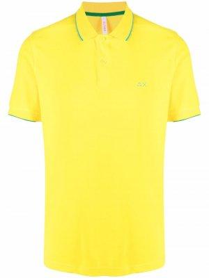 Рубашка поло с вышивкой Sun 68. Цвет: желтый